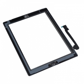 iPad 3 4 Glas Touchscreen Digitizer Displayglas Schwarz