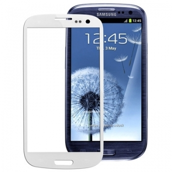 Samsung Galaxy GT-i9300 S3 Display Glas Weiss